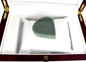 APP: 6.9k 573.00CT Pear Cut Cabochon Green Jade