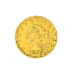 *1903 $2.50 U.S. Liberty Head Gold Coin - Great