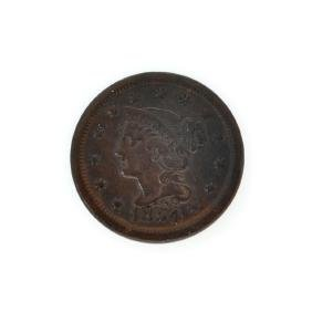 Rare 1854 Large Cent Coin