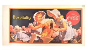 Rare Vintage Collectable Coca Cola Advertising Poster