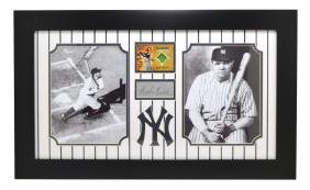 Very Rare Plate Signed Photo Of Babe Ruth With Authenic
