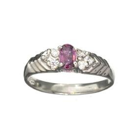 APP: 0.7k 0.29CT Ruby And Topaz Platinum Over Sterling