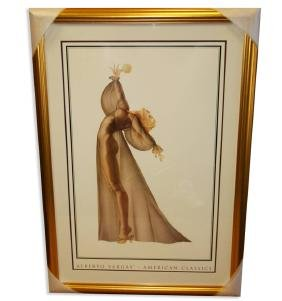 Alberto Vargas (Nude) Exquisitely Museum Framed &