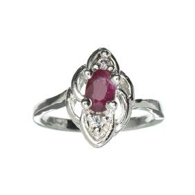 APP: 0.7k 0.46CT Ruby And Topaz Platinum Over Sterling