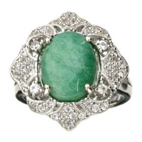 APP: 0.9k 5.90CT Green Beryl and Sapphire Sterling