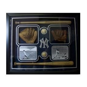 Rare Signed Babe Ruth And Mickey Mantle Collage With