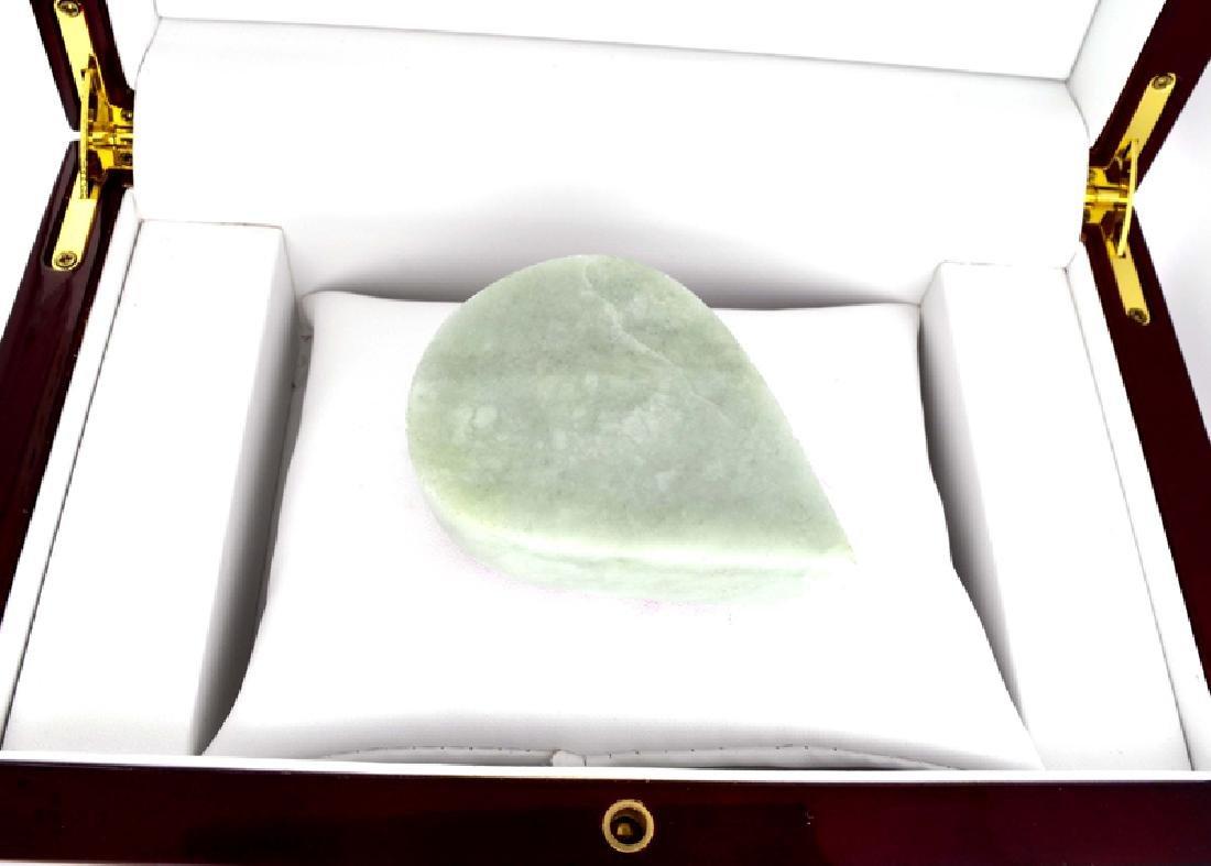 APP: 8.5k 773.00CT Pear Cut Cabochon Jade Gemstone