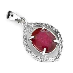 APP: 2.4k 4.80CT Ruby And Topaz Platinum Over Sterling