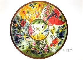 MARC CHAGALL (After) Paris Opera Ceiling Print, 85 of