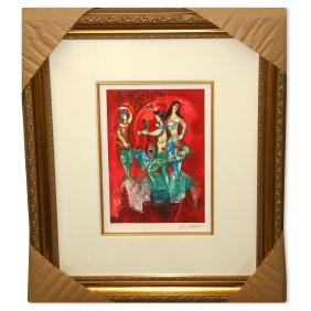 Chagall (After) 'Carmen' Museum Framed Giclee-Limited