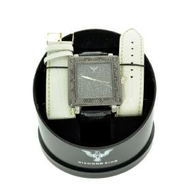 Diamond King Men's Square Stainless Steel With Black &