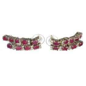 APP: 2.3k Fine Jewelry 3.05CT Ruby And Quartz Platinum