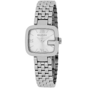 *Gucci Women's G-Gucci Stainless Steel Case, Stainless