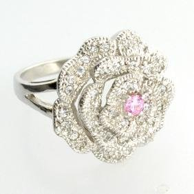 Platinum Overlay Sterling Silver French Cubic Zirconium