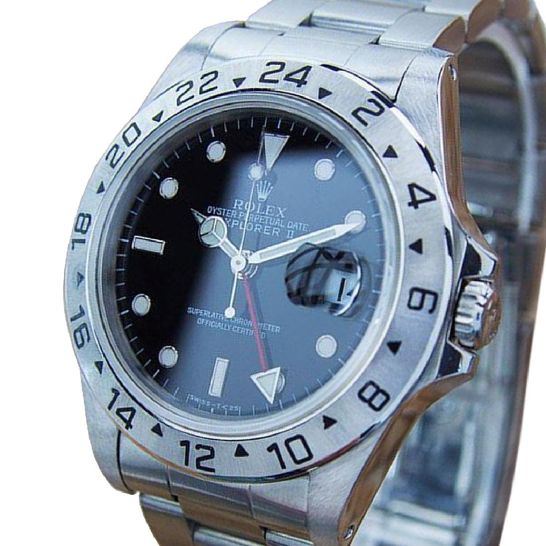 *Rolex Explorer II 16570 GMT Mens Swiss Made Stainless