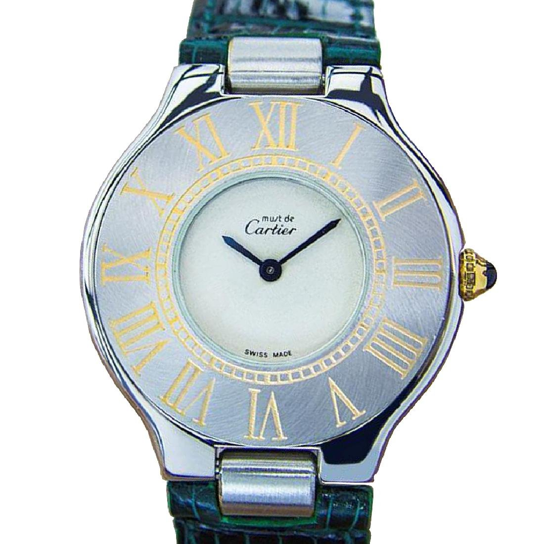 *Must De Cartier 21 Quartz Stainless Steel Swiss Luxury