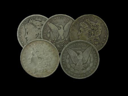 2: 5 Misc. Morgan Dollars Coin, COLLECT!