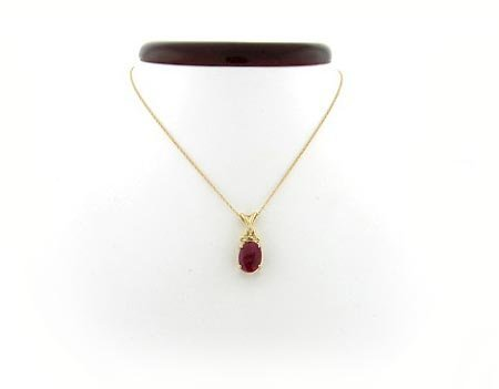 14: GOV: 2.59CT Ruby .05 Diamond Pendant, INVESTMENT!!