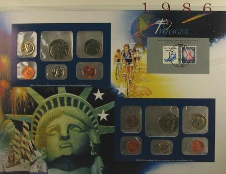 18: GOV: 1986 US Mint Set Coin, COLLECTABLE!!
