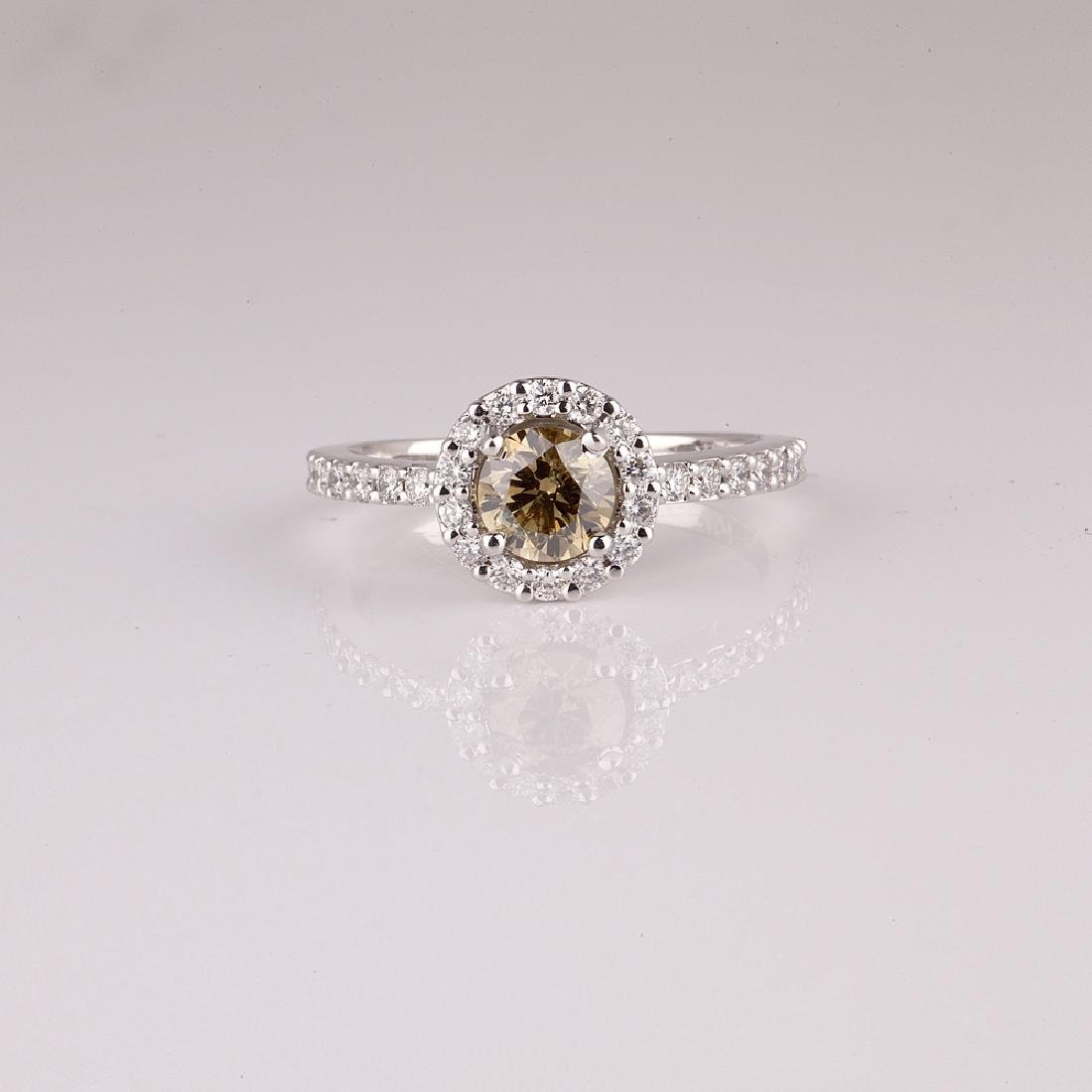 APP: 9.3k *14 kt. White Gold, 1.58CT Round Cut Diamond