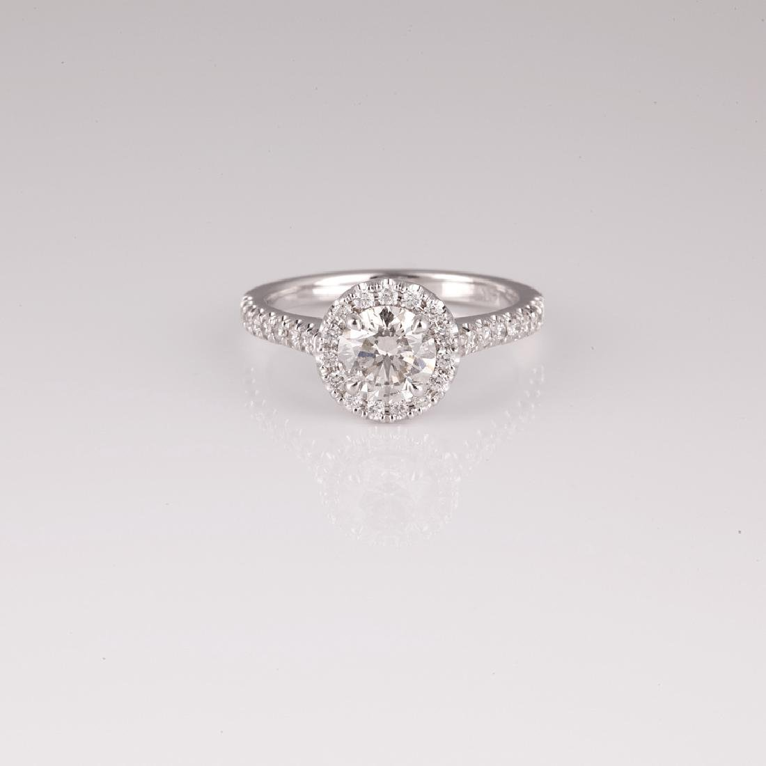 APP: 9.3k *14 kt. White Gold, 1.60CT Round Cut Diamond