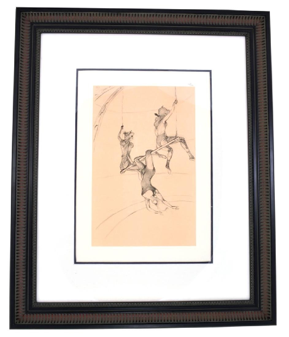 Toulouse-Lautrec (After) ''La Trapeze Volant'' Rare