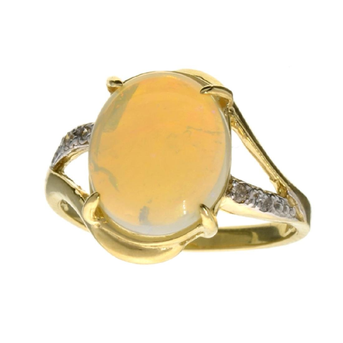 APP: 1.8k 14 kt. Yellow/White Gold, 1.74CT Opal And