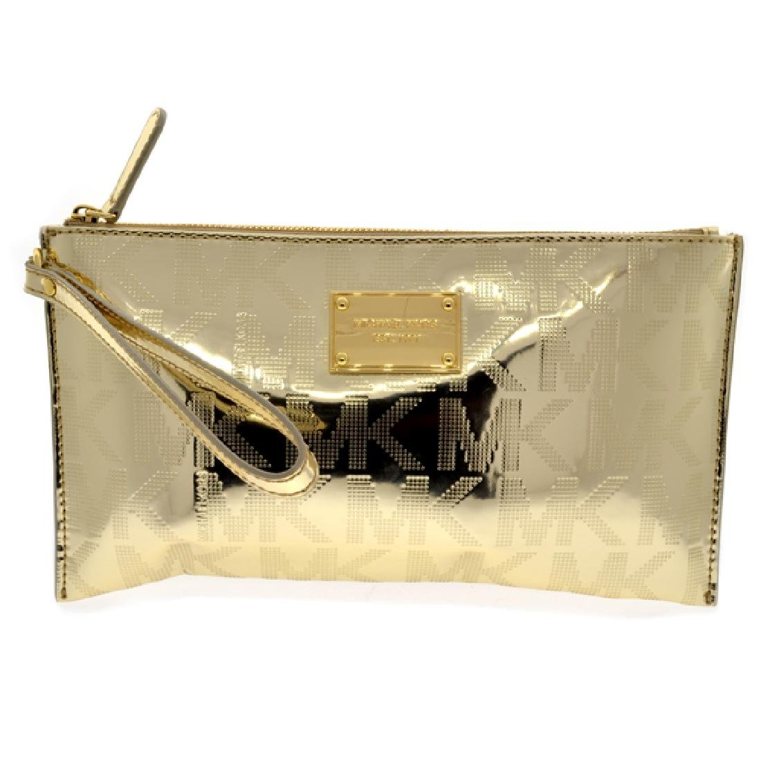 ^Brand New Michael Kors Jet Set Mirror Metallic Large