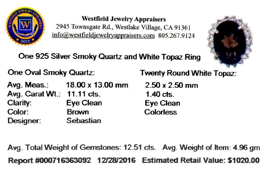 APP: 1k Fine Jewelry Designer Sebastian, 12.51CT Smoky - 2