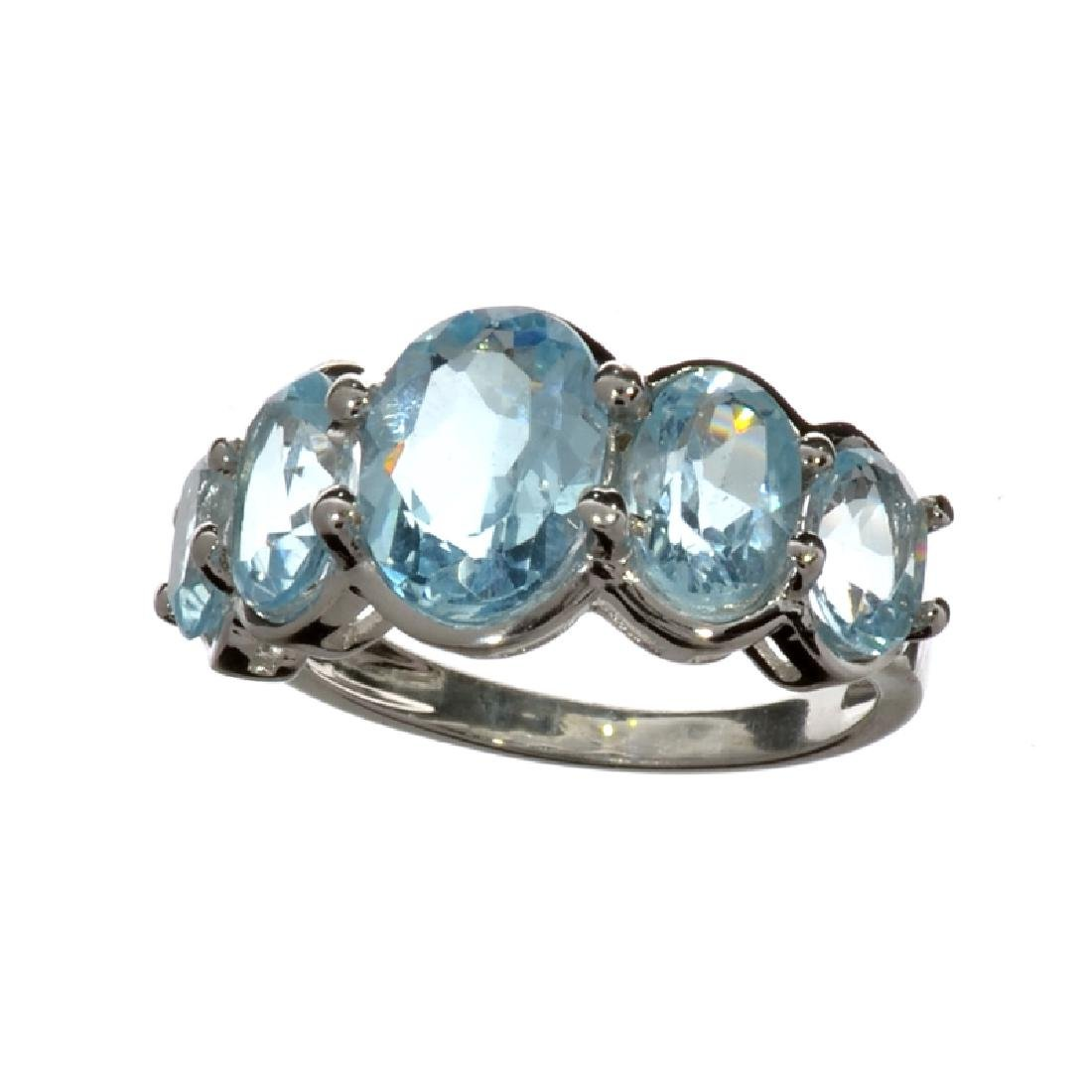APP: 1.4k Fine Jewelry 5.61CT Oval Cut Blue Topaz And