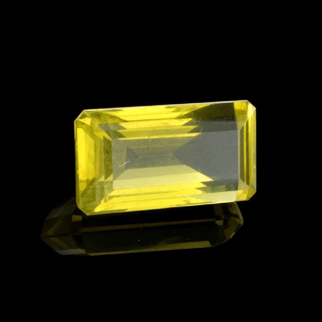 APP: 1.7k 20.50CT Emerald Cut Golden Citrine Quartz