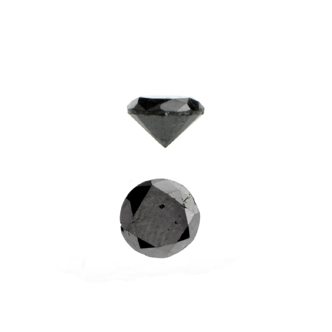 APP: 0.6k 0.79CT Round Cut Black Diamond Gemstone