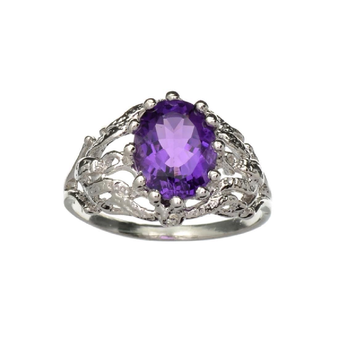 APP: 0.7k Fine Jewelry 2.00CT Oval Cut Amethyst Quartz
