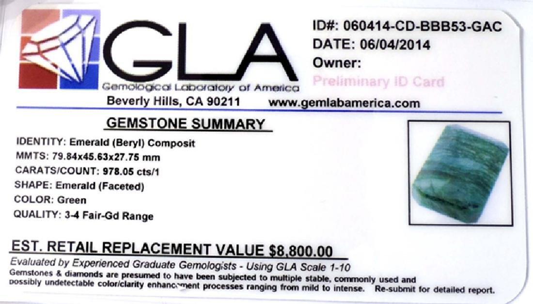 APP: 8.8k 978.05CT Emerald Cut Green Beryl Emerald - 3