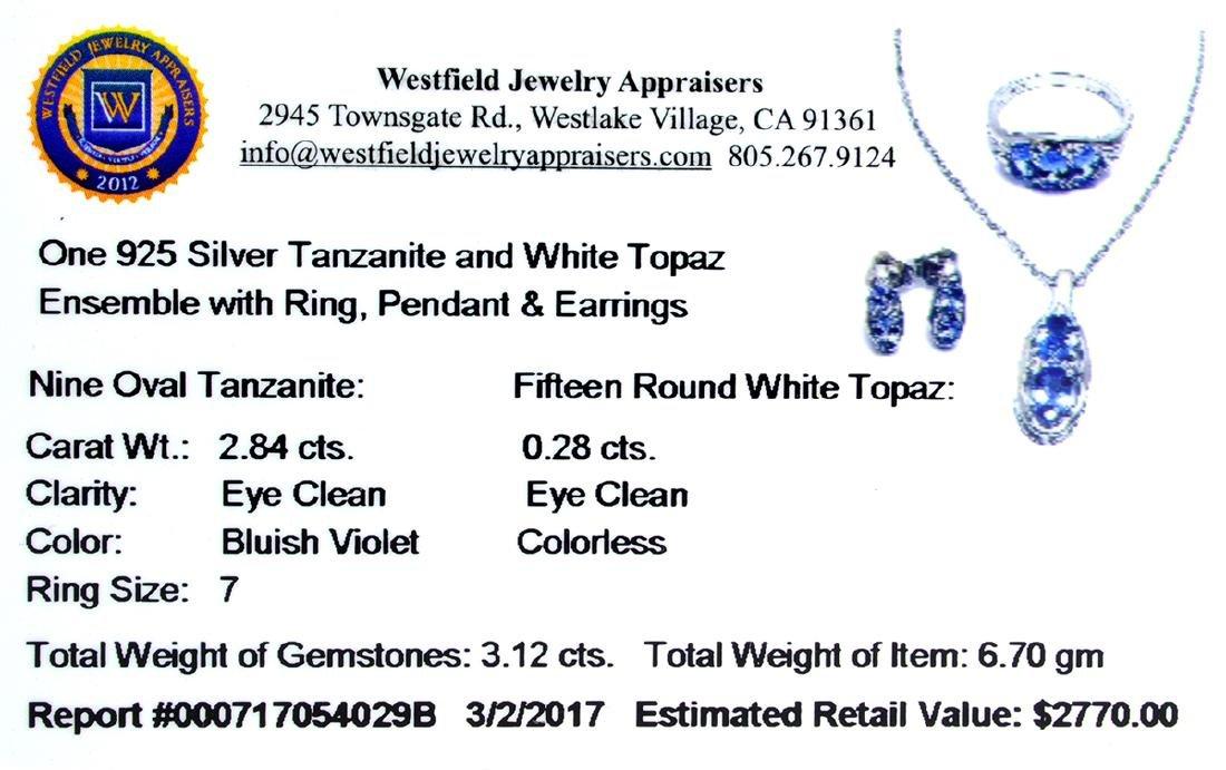 APP: 2.8k Fine Jewelry 3.12CT Tanzanite And White Topaz - 2