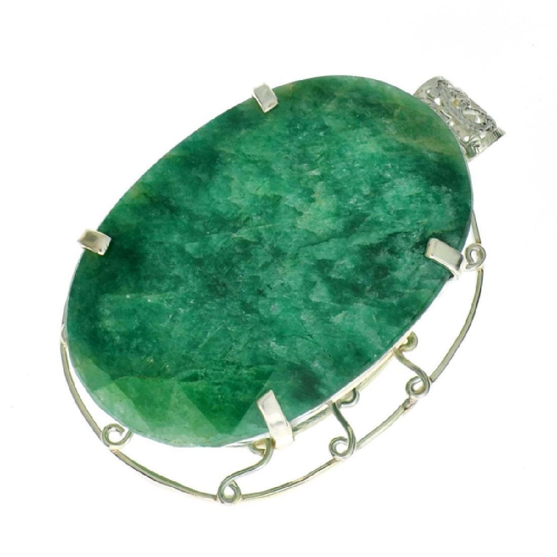 APP: 11.4k 261.47CT Oval Cut Emerald and Sterling