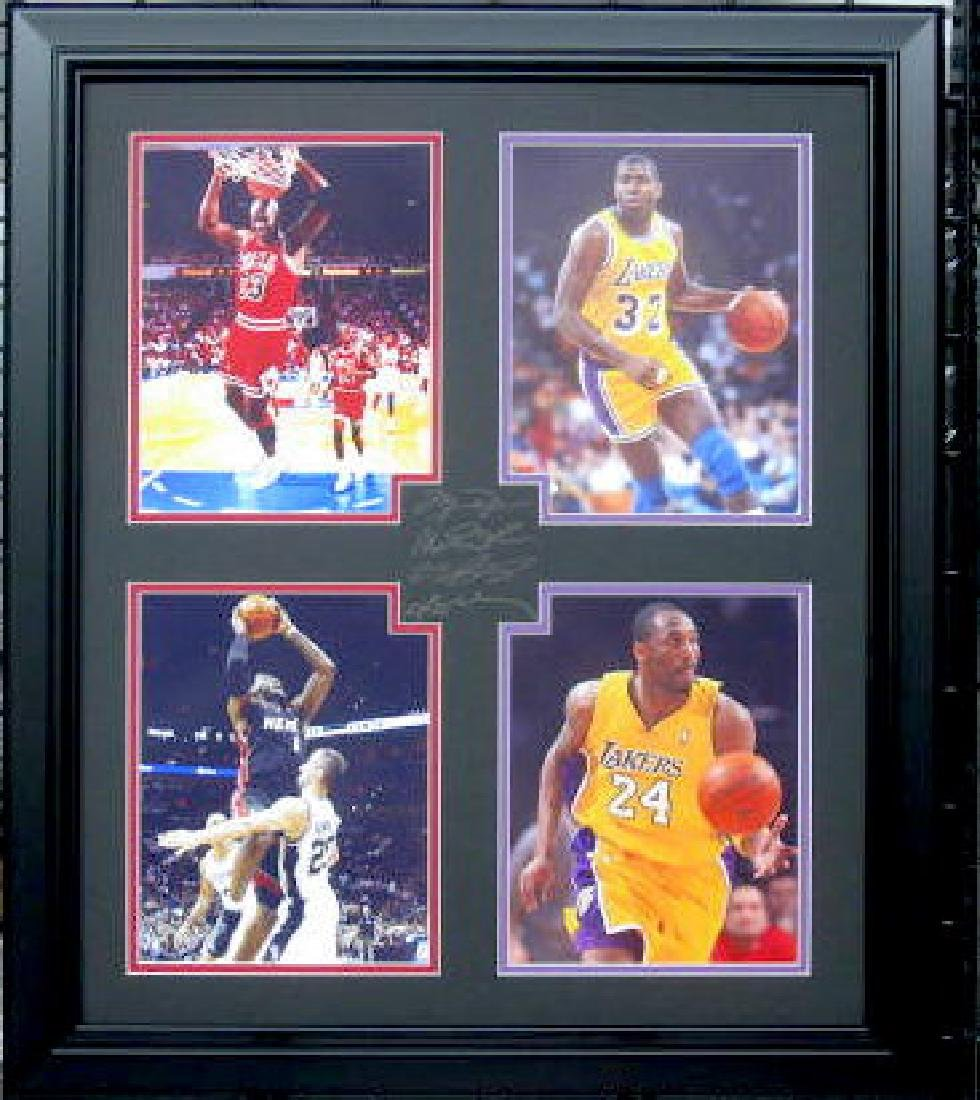 Kobe, Lebron, Jordan, Magic  - Engraved Signatures