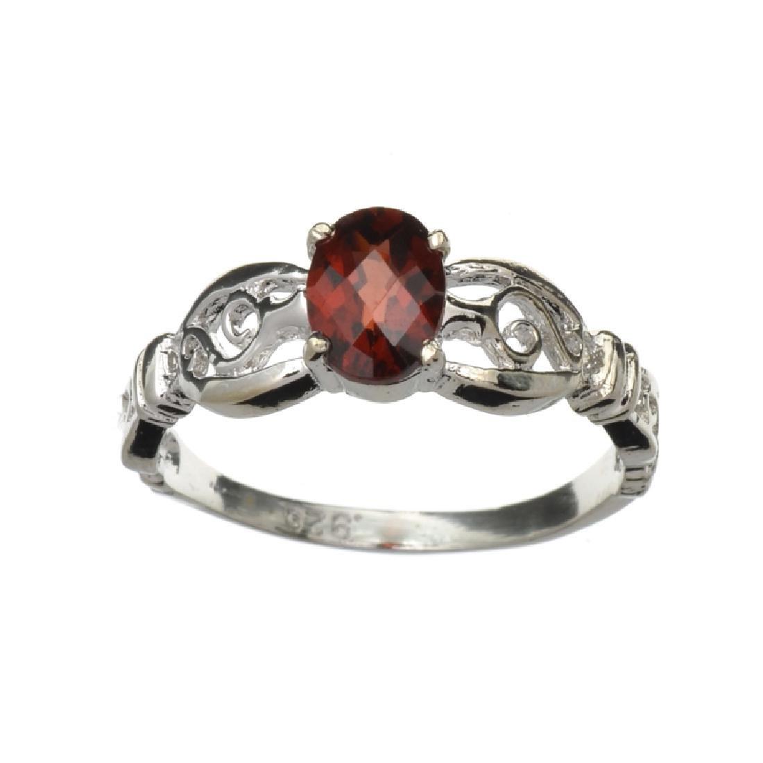 APP: 0.7k Fine Jewelry 1.00CT Oval Cut Almandite Garnet