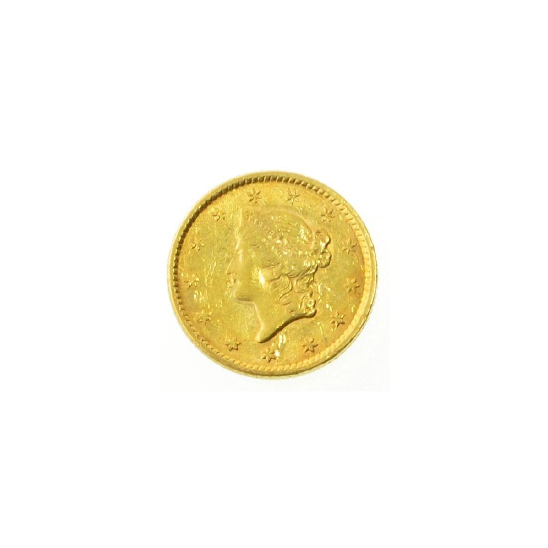 *1852 $1 U.S. Liberty Head Gold Coin (PS-JWJ)