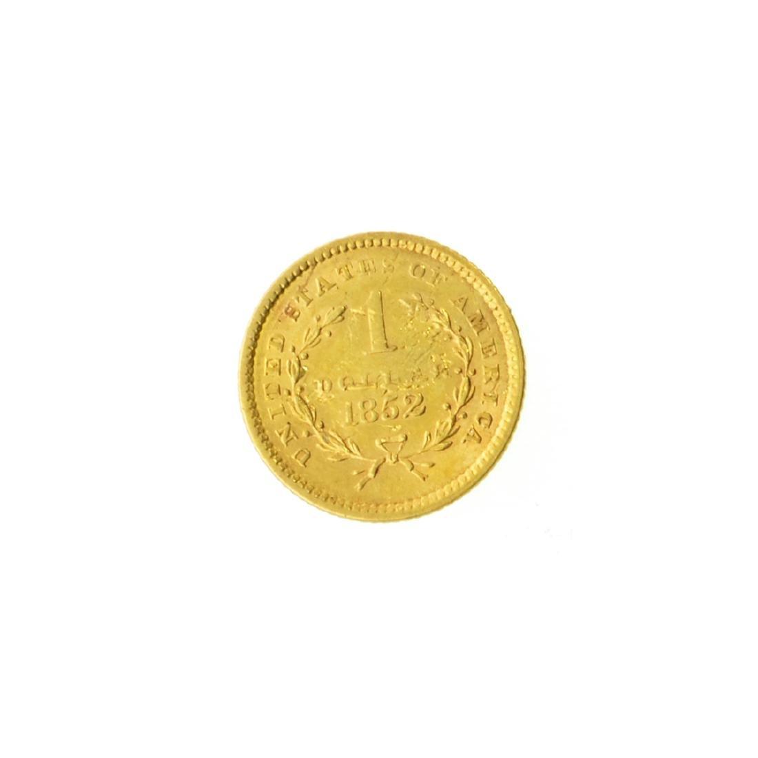 *1852 $1 U.S. Liberty Head Gold Coin (PS-JWJ) - 2