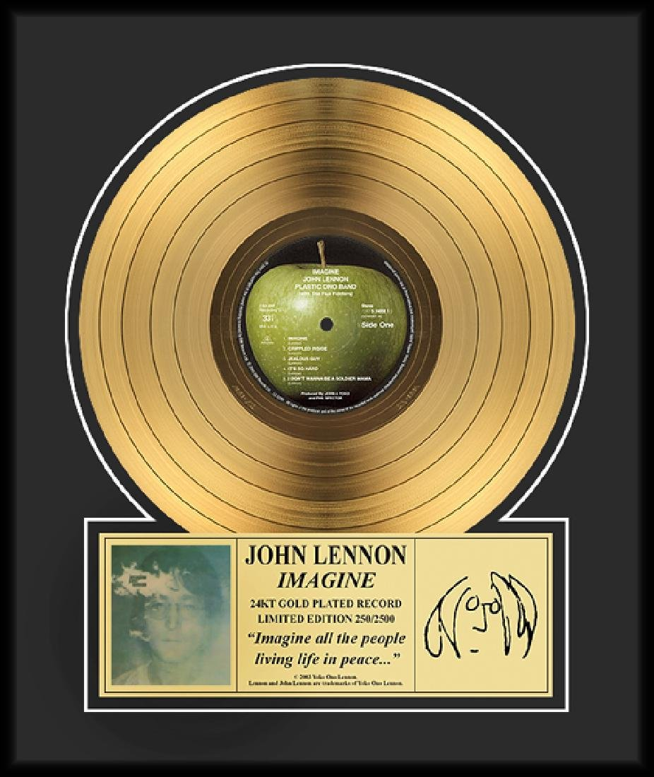 JOHN LENNON ''Imagine'' Gold LP-Limited Edition