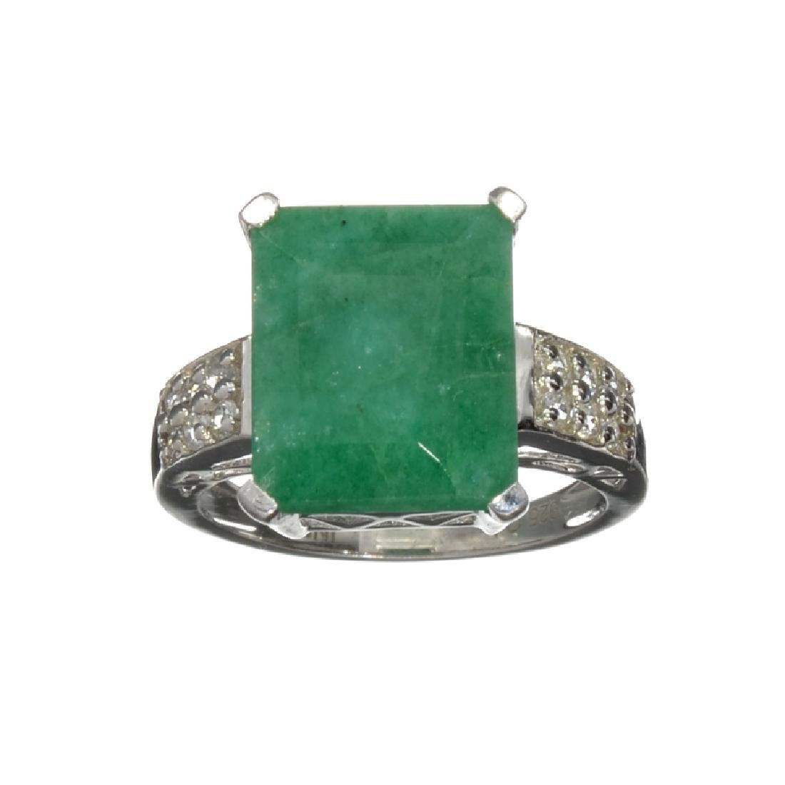 APP: 4.9k Fine Jewelry 5.86CT Green Beryl Emerald And
