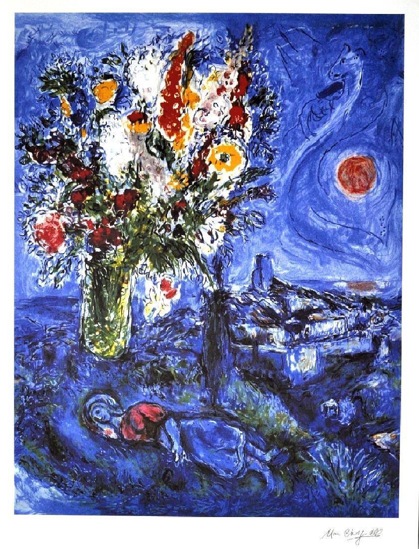 MARC CHAGALL (After) La Dormeuse Aux Fleurs Print, I215