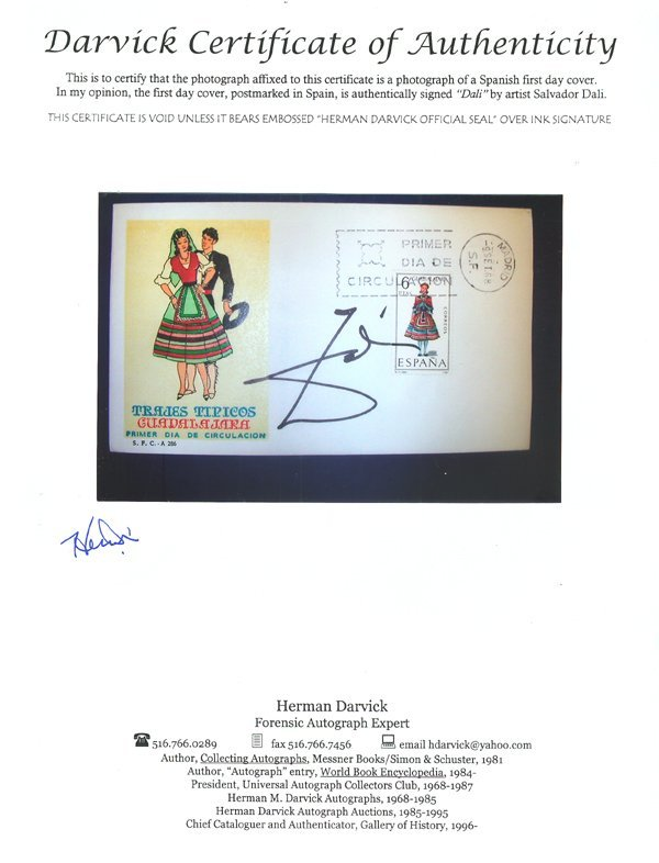 2504: Trajes Tipicos Guadalajara Envelope Hand Signed