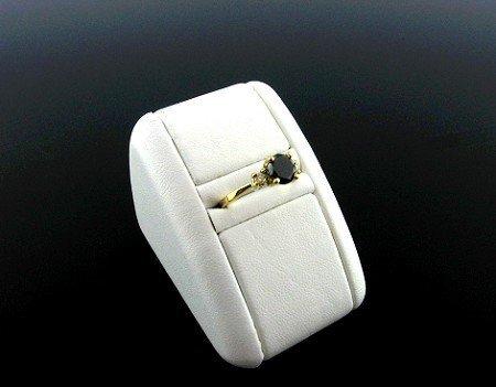 2507: 1.10CT Rare Black Diamond .07 Diamond Ring, INVES