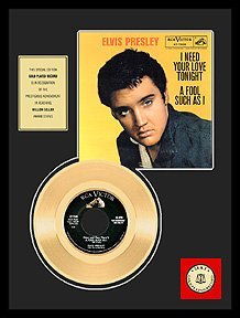 2512: ELVIS PRESLEY ''A Fool Such As I'' Gold LP