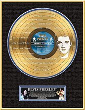 2520: ELVIS PRESLEY ''The Number One Hits'' Gold LP