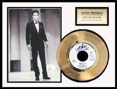 2524: ELVIS PRESLEY ''Stuck On You'' Gold LP
