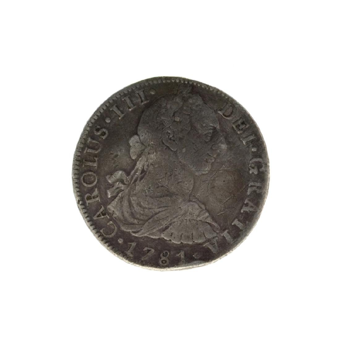 1781 Eigth Reales American First Silver Dollar Coin -
