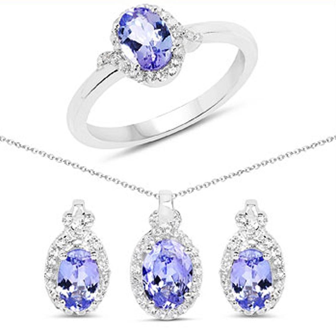 APP: 2.9k Fine Jewelry 2.83CT Tanzanite And White Topaz